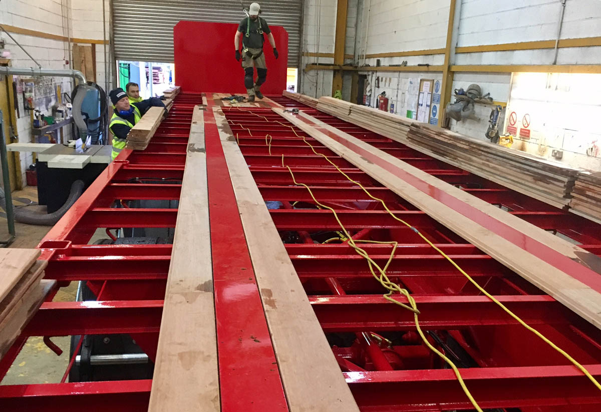 Trailer floor kits a b lewis for Wood floor kits for pickups